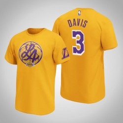 Lakers Anthony Davis & 3 Iconic Heimatstadt Graphic T-Shirt Gold-