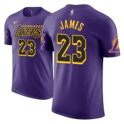 Männer LeBron James Los Angeles Lakers und 23 Ort Ausgabe Lila Name # Nummer T-Shirt