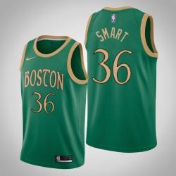 2019-20 Celtics Marcus Smart & 36 Kelly Green City Jersey