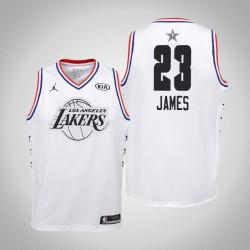 2019 NBA All-Star Jugend Los Angeles Lakers LeBron James # 23 Weiß Swingman Trikot