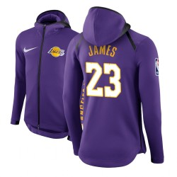 Männer LeBron James Los Angeles Lakers und 23 Lila Therma Flex Showtime Hoodie