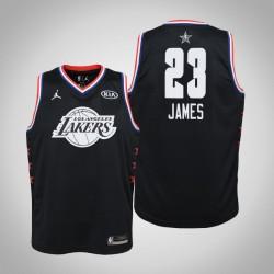 2019 NBA All-Star Jugend Los Angeles Lakers LeBron James # 23 Black Swingman Trikot