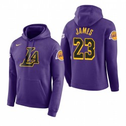 Männer LeBron James Los Angeles Lakers und 23 Lila 2018 Stadt Ausgabe Hoodie