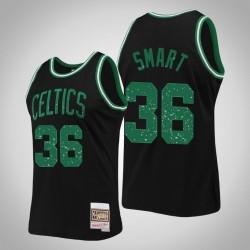 Celtics Marcus Smart & 36 schwarze Ringe Sammlung Swingman Mitchell & Ness Jersey