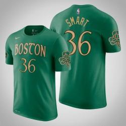 Boston Celtics und 36 Marcus Smart City Kelly Grün 2020 Saison Name & Nummer T-Shirt