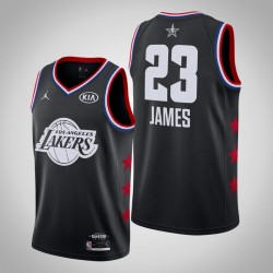 2019 NBA All-Star-Männer Los Angeles Lakers LeBron James & 23 Black Swingman Jersey