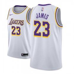 Männer 2018-19 Lebron James Los Angeles Lakers und 23 Verband Weiß Jersey