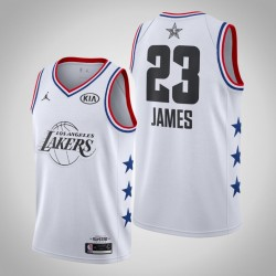 2019 NBA All-Star-Männer Los Angeles Lakers LeBron James & 23 White Swingman Jersey