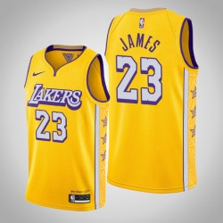 2019-20 Lakers LeBron James & 23 Gold City Jersey