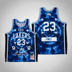 LeBron James & 23 Königs Schoolboy Q X Los Angeles Lakers Swingman Mitchell Ness Limited Jersey