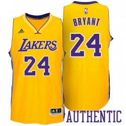 Los Angeles Lakers und Kobe Bryant 24 Home Gold authentisches Jersey