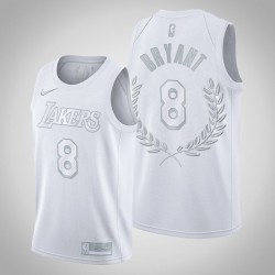 Los Angeles Lakers Kobe Bryant & 8 Platinum Limited Ruhm Retired Weiß Jersey
