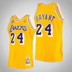 Männer Lakers Kobe Bryant & 24 Yellow 2007 Holz Classics authentisches Jersey
