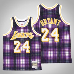 Männer Lakers Kobe Bryant & 24 Lila Private School Swingman Holz Classics Jersey