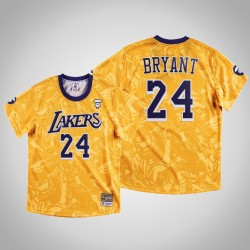 Lakers Kobe Bryant & 24 AAPE x Mitchell Ness Swingman Klassische Jersey Gold-