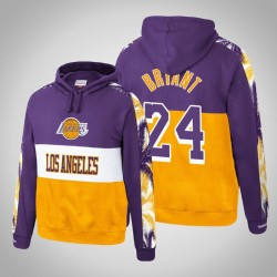 Lakers & 24 Kobe Bryant Hartholz Classics Topscorer Pullover Lila Hoodie