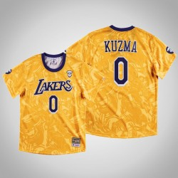 Lakers Kyle Kuzma & 0 AAPE x Mitchell Ness Swingman Klassische Jersey Gold-