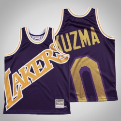 Männer Lakers Kyle Kuzma & 0 Lila Big Gesicht Hartholz-Klassiker Jersey