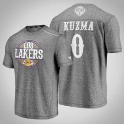 Lakers Kyle Kuzma & 0 Latino Heritage Nacht Clutch Shooting meliertes Grau-T-Shirt