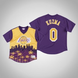 Los Angeles Lakers Kyle Kuzma & 0 Gold Game Winning Shot T-Shirt