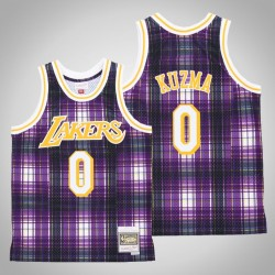 Männer Lakers Kyle Kuzma & 0 Lila Private School Swingman Holz Classics Jersey