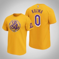 Lakers Kyle Kuzma & 0 Iconic Heimatstadt Graphic T-Shirt Gold-