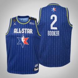 Jugendteam LeBron Devin Booker & 2 Sonnen Blau 2020 NBA All-Star Game Jersey