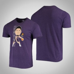 Sonnen Devin Booker & 1-Spieler-grafische Bobblehead melierte Lila T-Shirt