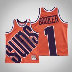 Herren Sonnen Devin Booker & 1 Orange großes Gesicht Hartholz Classics Jersey