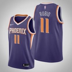 Männer Phoenix Suns Ricky Rubio & 3 Lila Icon Jersey