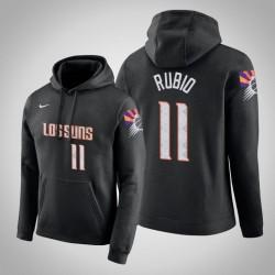 Phoenix Suns & 11 Ricky Rubio Stadt Schwarz 2020 Saison PulloverHoodie