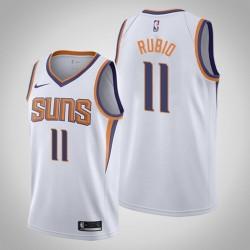 Männer Phoenix Suns Ricky Rubio & 3 White Vereinigung Jersey
