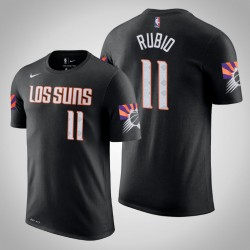 Phoenix Suns & 11 Ricky Rubio Stadt Schwarz 2020 Saison Name & Nummer T-Shirt