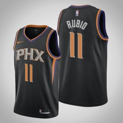 Männer Phoenix Suns Ricky Rubio & 3 Black Statement Jersey