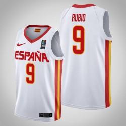 Spanien Ricky Rubio & 9 2019 FIBA World Cup Championship Weiße Trikot