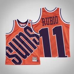 Herren Sonnen Ricky Rubio & 11 Orange großes Gesicht Hartholz Classics Jersey
