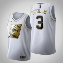 Phoenix Suns Kelly Oubre Jr. & 3 Golden Edition Weiß Jersey