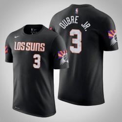 Phoenix Suns & 3 Kelly Oubre Jr. Stadt Schwarz 2020 Saison Name & Nummer T-Shirt