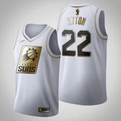 Phoenix Suns Deandre Ayton & 22 Golden Edition Weiß Jersey