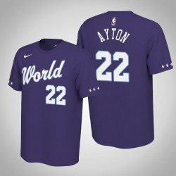 Phoenix Suns Deandre Ayton & 22 2020 NBA Rising Star World Team Name & Nummer Lila T-Shirt