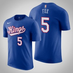 Sacramento King & 5 De'Aaron Fox Holz Classics König 2020 Saison Name & Nummer T-Shirt