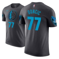 Männer Luka Doncic Dallas Mavericks und 77 Stadt Ausgabe Anthrazit Name # Nummer T-Shirt