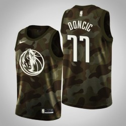 Männer Dallas Mavericks Luka Doncic # 77 Camo Trikot - 2019 Memorial Day