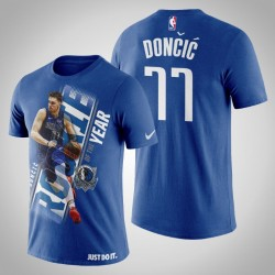 Dallas Mavericks Luka Doncic # 77 König 2019 NBA Rookie of the Year T-Shirt