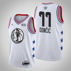 2019 NBA All-Star-Männer Dallas Mavericks Luka Doncic # 77 Weiß Swingman Trikot