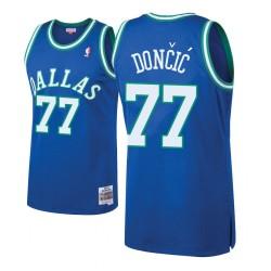 Herren Mitchell # Ness Luka Doncic Dallas Mavericks und 77 Laubholz Klassische königliche Swingman Trikot