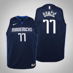 Jugend Luka Doncic Dallas Mavericks und 77 Statement Navy 2020 Saison Trikot