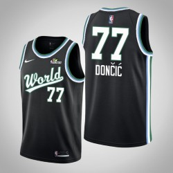 2019 NBA Rising Star Herren Team USA Luka Doncic # 77 Schwarz Swingman Trikot