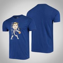 Mavericks Luka Doncic # 77-Spieler-grafische Bobblehead melierte Marine-T-Shirt