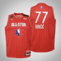 Jugend Dallas Mavericks Luka Doncic # 77 Red 2020 NBA All-Star Game Trikot
